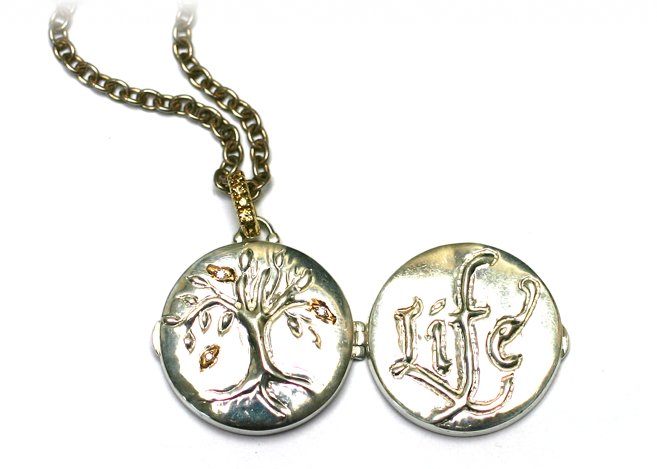 shaped tree sterling necklace silver personalised life locket of oval lockets