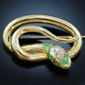 Adin Victorian snake brooch